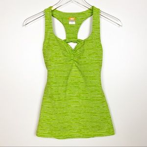 Lucy Workout Tank Top Green Striped X-Small